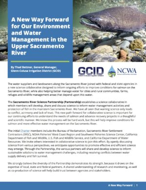 A New Way Forward for Our Environment and Water Management in the Upper Sacramento River